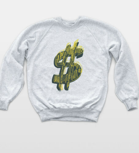 Simbolo del dollaro Felpa Retro Jumper 90 S Musica Rap Swag Cool Felpa