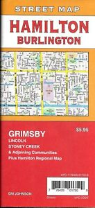 Details About Street Map Of Hamilton Burlington Ontario Canada By Gmj Maps