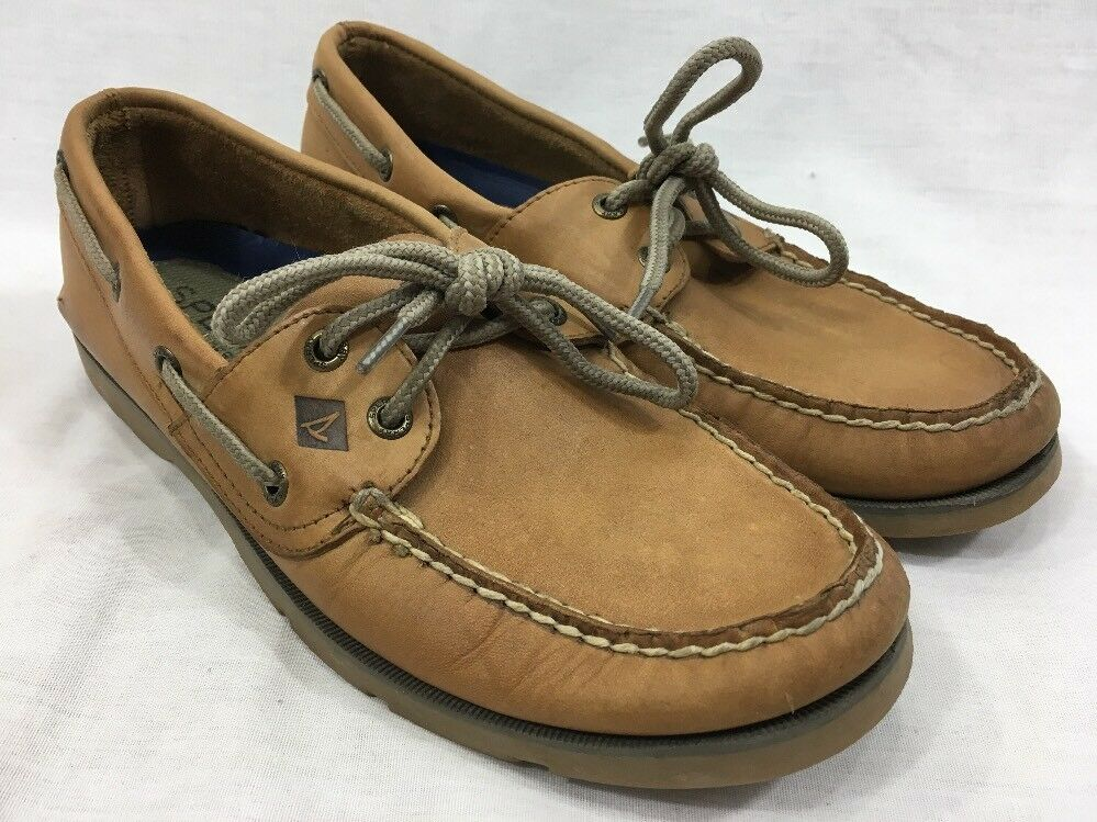 Sperry Top-Sider Boat Dock Deck sautope Mens 7.5 Marronee Tan Leather