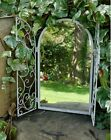 Shutter Mirror Window Metal Garden Distressed Soft White Vintage Style