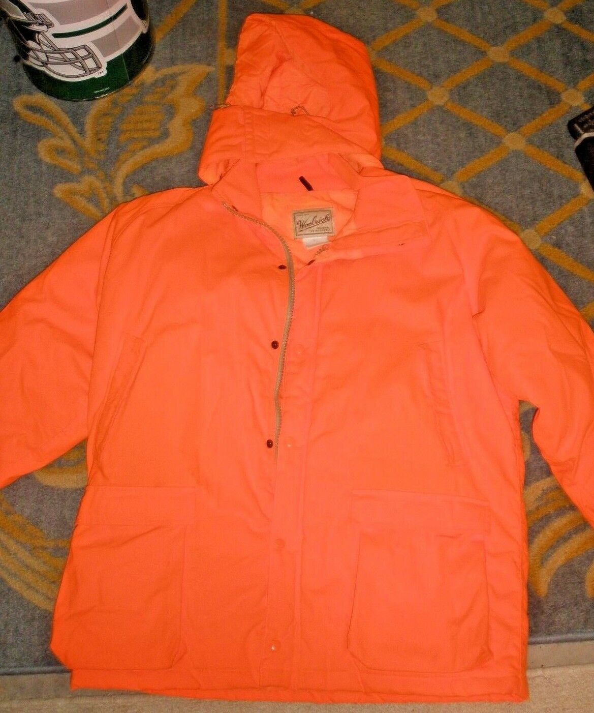 HUNTING Woolrich Original Outdoorwear Hood Coat Thermolite Plus Large orange