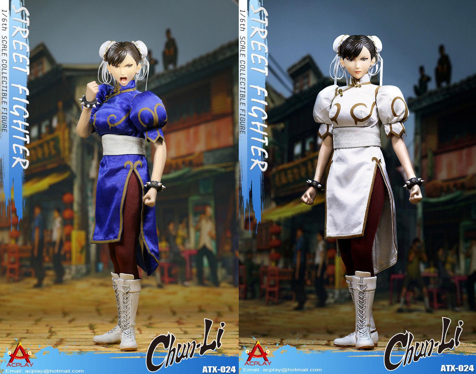 HOT FIGURE TOYS ACPLAY 1 6 ATX024 Street fighter Chun Li Double brow and dress