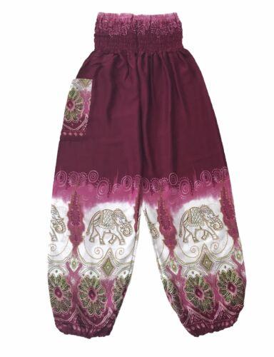 Bali Print Baggy Harem Elephant Pants Yoga Maternity Hippie Boho OneSize