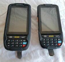 Lot Of 2 Scansku Android Handheld Inventory Barcode Scanner Used