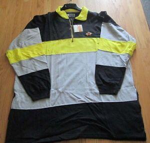 Sweatshirt-Big-Men-Greystone-Fleece-5XL100-Cotton-Black-Yellow-Gray