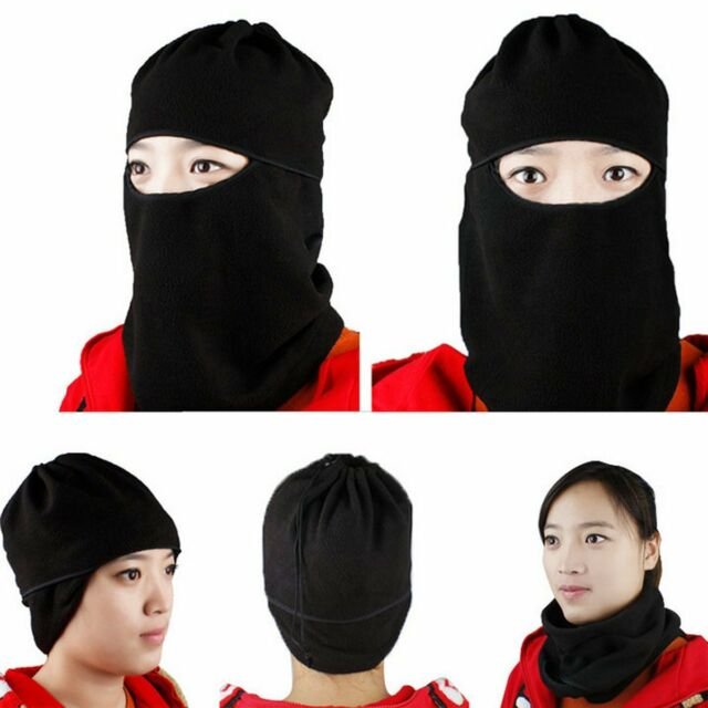 dc57d7a8c5745 Motorcycle Thermal Fleece Balaclava Neck Winter Ski Full Face Mask Cap Hat  Cover