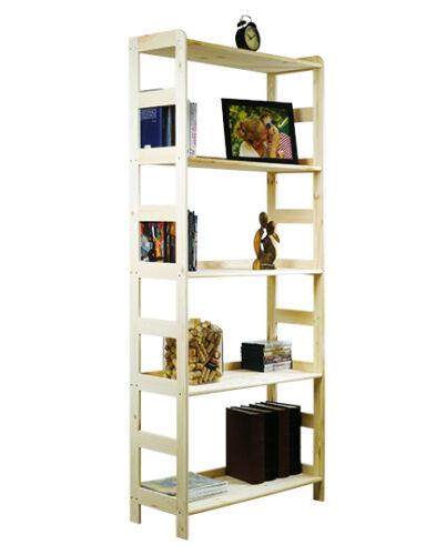 Holzregal  Regal Bücherregal  Büroregal Kiefer 5 Böden 166x63x33 R-09