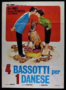 Manifesto-4-Bassets-Per-1-Danes-Walt-Disney-Dean-Jones-Suzanne-Ples-M288