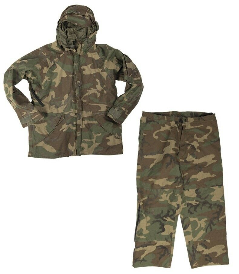 US Army Weather ECWCS Cold Wet Weather Army REFORGER Outdoor Pantaloni Giacca Woodland Mimetico 7e7584