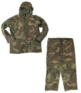 US-ARMY-WCP-ECWCS-Cold-Humedad-Weather-Goretex-Pantalones-Chaqueta-WOODLAND