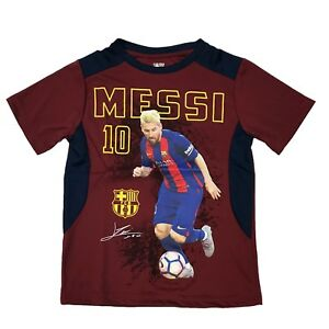 FC Barcelona messi 10 jersey Youth Boy Soccer Photo Jersey Official ... d5abafdce93