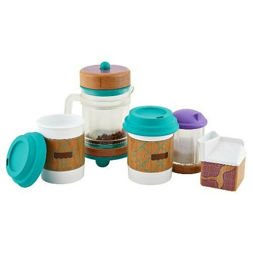 Djf66 Fisher Wooden Toys Early Bird Barista Set For Sale Online Ebay