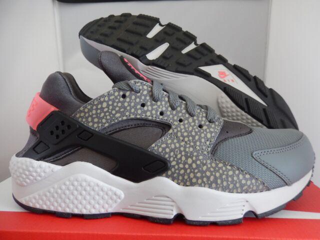 sports shoes cf46b 836e8 NIKE AIR HUARACHE RUN PRM PREMIUM GREY-BLACK-PUNCH SZ 8.5 SAFARI!