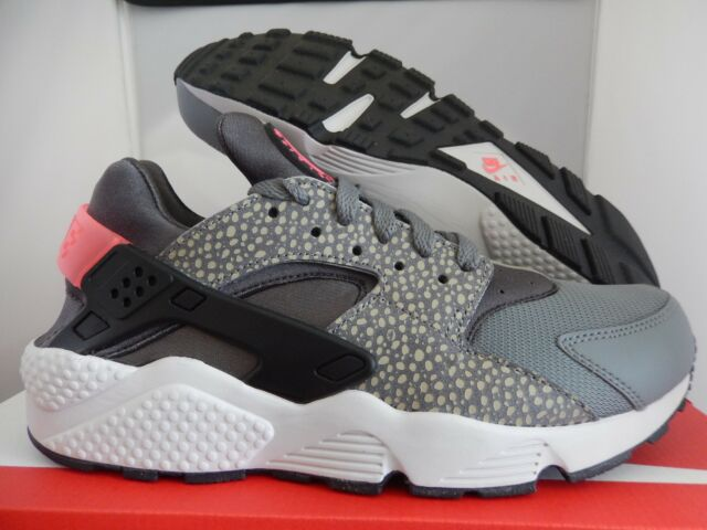 sports shoes dc47f 78481 NIKE AIR HUARACHE RUN PRM PREMIUM GREY-BLACK-PUNCH SZ 8.5 SAFARI!