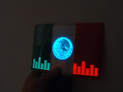 SOUND Activated MEXICO MEXICAN FLAG CAR WINDOW SIGN LED Light FLASHING