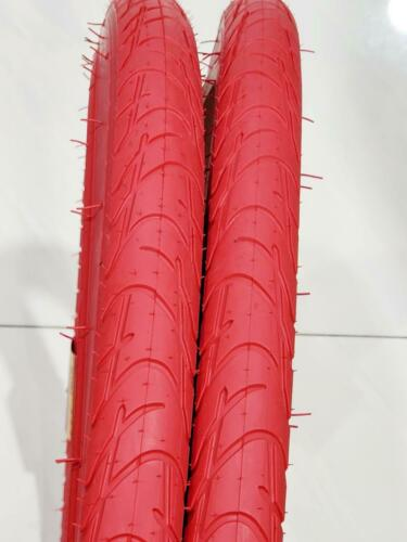 700X42C 42-622 28 X1.75 TWO RED TIRES HIGH QUALITY NEW STREET TIRE FITS 29 BIKE
