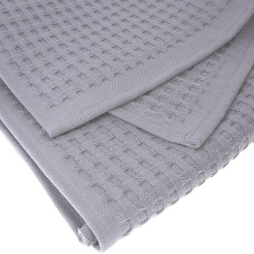 Serviette gästetuch Gaufre Pikee 100 x 50 cm coton gris Serviette Serviettes