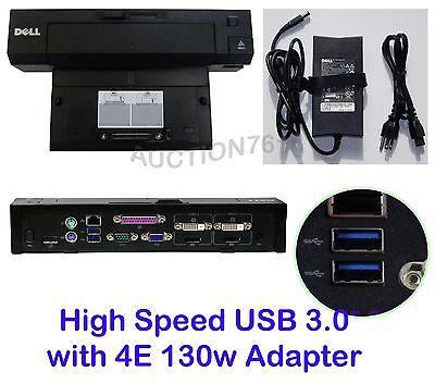 E6220 for Latitude E4200 E6400 E6320 E5510 E4310 E5410 E6410 E5420 E6420 E6400 ATG Dell Model PR02X E6410 E5520 E5400 K09A E6400 XFR DELL E-Port Plus Advanced Replicator Docking Station with 240W AC Adapter E4300 E5500