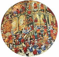 Holy Cats Round Jigsaw Puzzle Bill Bell Monks Nuns 500 Pieces Whimsical Complete
