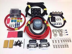 5mtr split charge kit 12v 140a amp relay 110amp cable 6 way fuse rh ebay co uk Mini Fuse Kit Automotive Fuse Kits