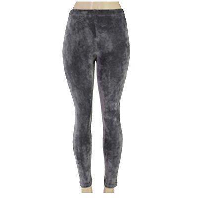 Urban Women Slim Fit Velvet Velour Punk High Waist Sexy Leggings Pants Ti