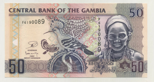 Gambia 50 Dalasis ND (2006)  Pick 28 UNC Uncirculated Banknote