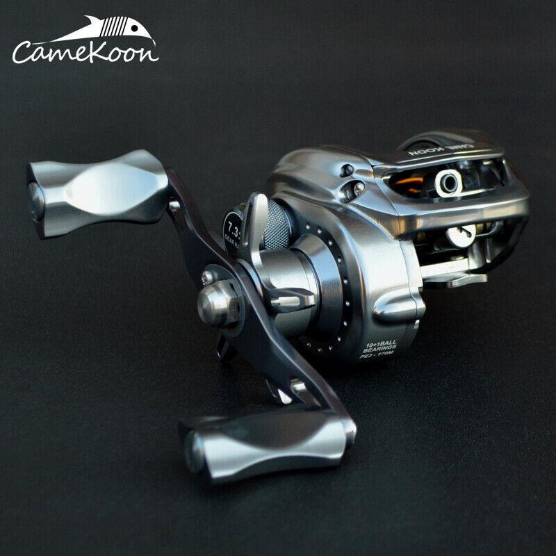 CAMEKOON Full Metal Baitcasting Reel 7.3 1 High Gear Ratio Baitcast pesca Reel