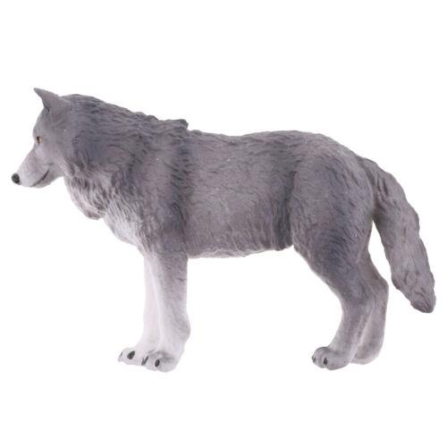 10.5cm Modelo Animal Lobo realista Figuras De Ação Brinquedos De Ciência E Natureza