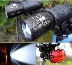 2er-Set-5-LED-Fahrradbeleuchtung-Lampe-Fahrradlicht-Fahrradleuchte-Ruecklicht
