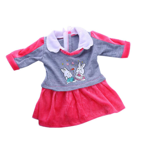 Long Sleeves Dress Doll Outfit for Ameircan Girl 18inch Doll Dress up Accs