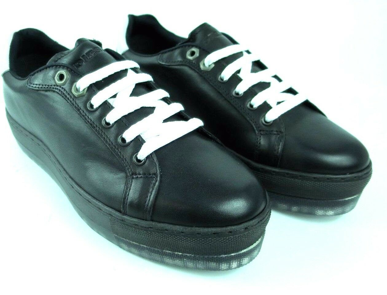 DIESEL Baskets S-andyes Femmes Baskets femmes chaussures en cuir noir y01251 neuf A