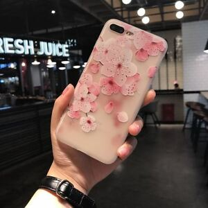 Floral-Design-Soft-Silicone-Matte-Back-Cover-Case-for-Apple-iPhone-6S-7-amp-8-Plus