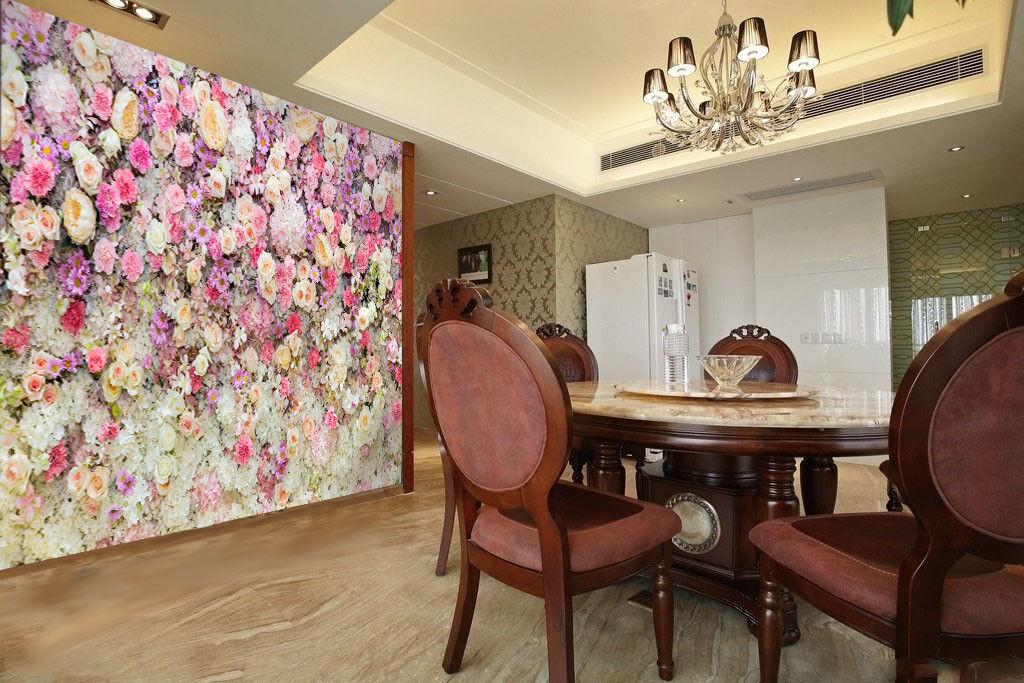 3D Flower Garden 48 Wallpaper Murals Wall Print Wallpaper Mural AJ WALL UK Carly