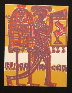 Hap Grieshaber, della Harold, legno di sezione dal Totentanz di Basilea, 1966