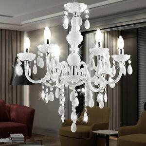 LED 18 Watt Kronleuchter H/änge Leuchte L/üster Beleuchtung Lampe Acryl Dekor