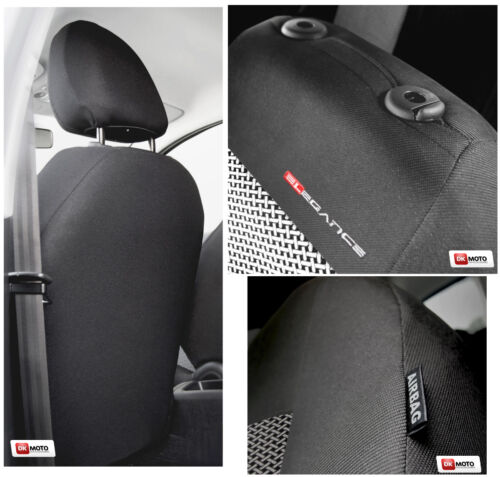 2 X CAR SEAT COVERS for front seats fit   Hyundai I20 I30 I40  grey PATTERN 1