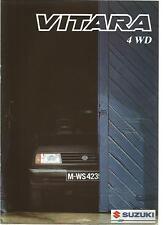 Catalogue brochure Katalog Prospekt SUZUKI VITARA 20 Pages