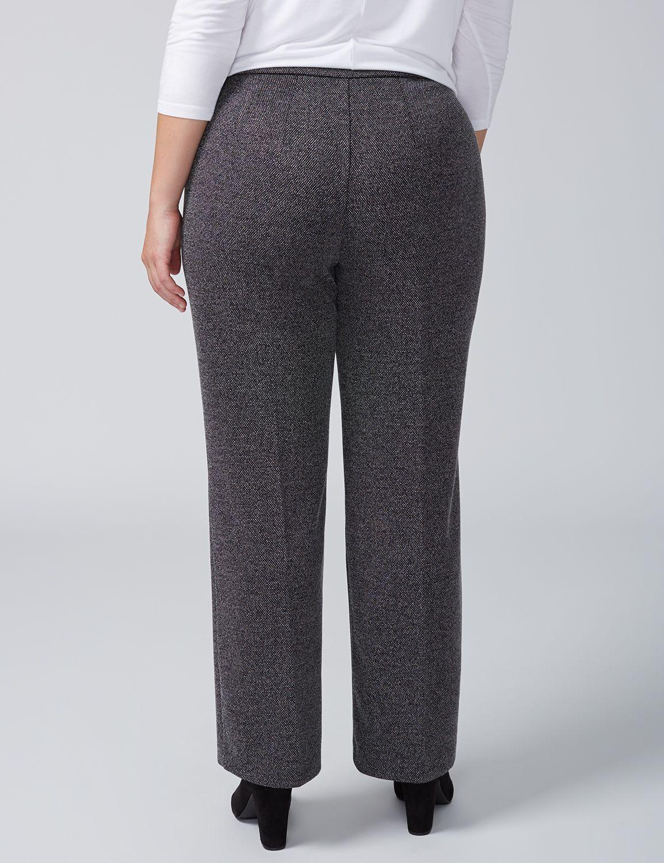 04de51a0121 Lane Bryant Black White Texture Dot Print Ponte Pant Size 10 12