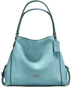 6579e0474fb3 COACH 57125 Edie Shoulder Bag 31in Polished Pebble Leather Cloud ...