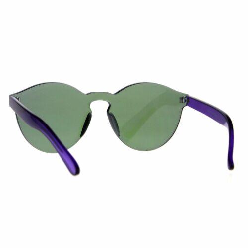 Unique Flat Solid Panel Lens Horn Keyhole Mirror Sunglasses