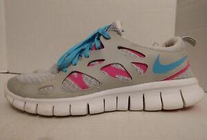 43903256fe619 Nike Free Run 2 (GS) Blue  Pink Grey 477701-007•Youth Sz 6.5y ...