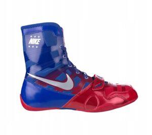 Détails sur Nike hyperko MP Boxing Boots Boxe Chaussures Chaussures de boxe Bleu Rouge 604 afficher le titre d'origine