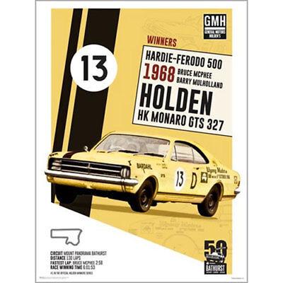"1968 HK HOLDEN MONARO GTS-327 AD A4 POSTER GLOSS PRINT LAMINATED 11.7""x8.3"""