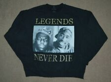 Bootleg Rap Crewneck Sweatshirt Tupac Biggie Smalls NWA Size L