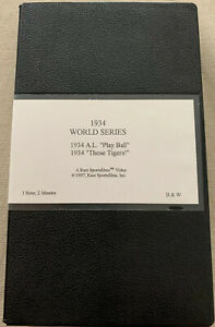 RARE-SPORTS-FILM-VHS-BASEBALL-1934-WORLD-SERIES-PLAY-BALL-amp-1934-THOSE-TIGERS