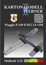 Karton-Modell-Bausatz Piaggio P149 D032 JA+394 TaktLwG71Richthofen  Maßstab 1:33