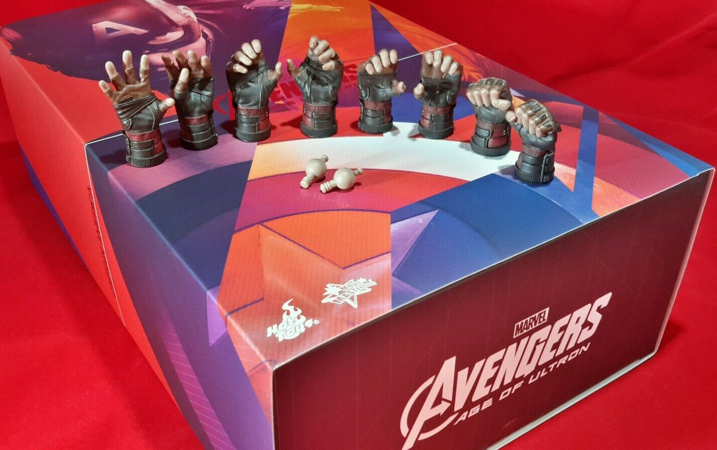 Hot Toys MMS281 1 6 Scale Genuine  Avengers Captain America Ultron All 8 hands