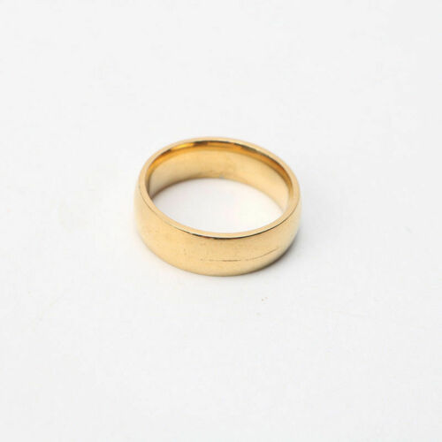 Smooth Gold/&Sliver Color Stainless steel Ring Jewelry Unisex Top Quality Circlet