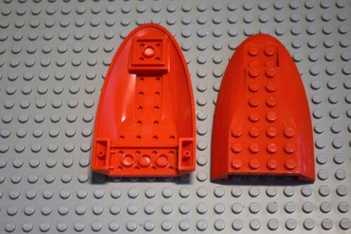 LEGO Bausteine & Bauzubehör Lego 2 Stück rot Flugzeugrumpf 6x10 87615