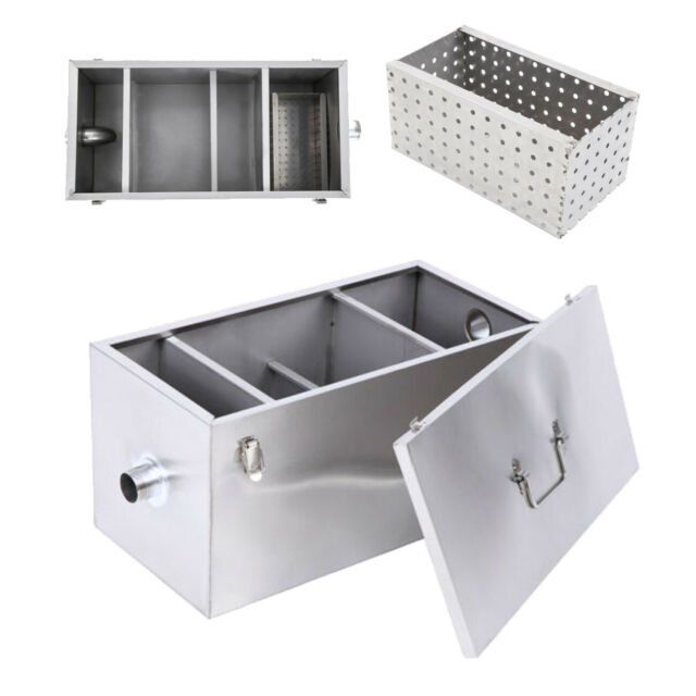 Grease Trap For Sale >> 25lb 13gpm Per Minute Grease Trap Stainless Steel Interceptor Filter Commercial
